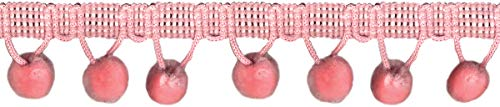 Wright Products Simplicity Ball Fringe 1.125' X12yd-Light Pink