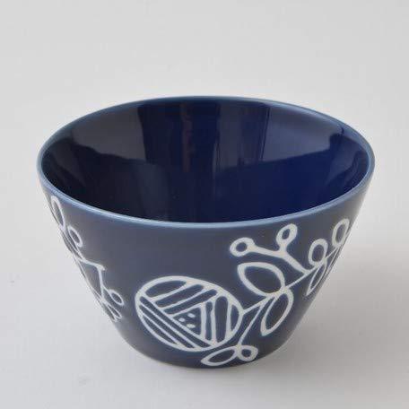 Japanische Hasami-Yaki Keramikschale für Suppe, Reis, Kaffee, 200 ml, hergestellt in Japan, Dunkelblau 302-22