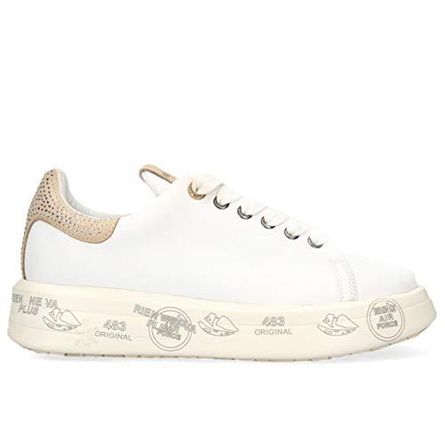 PREMIATA Sneakers Donna Belle 4540 Bianca con Strass - Belle 4540 - Taglia 38