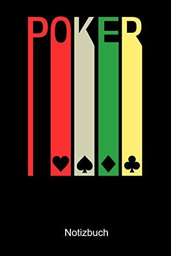 Poker Notizbuch: Notizbuch A5 blanko 120 Seiten, Notizheft / Tagebuch / Reise Journal, perfektes Geschenk für Poker Spieler