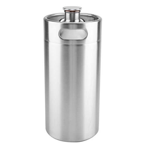 Barril de cerveza de acero inoxidable, práctico barril de cerveza de acero inoxidable, para exteriores para uso doméstico (3,6 L)