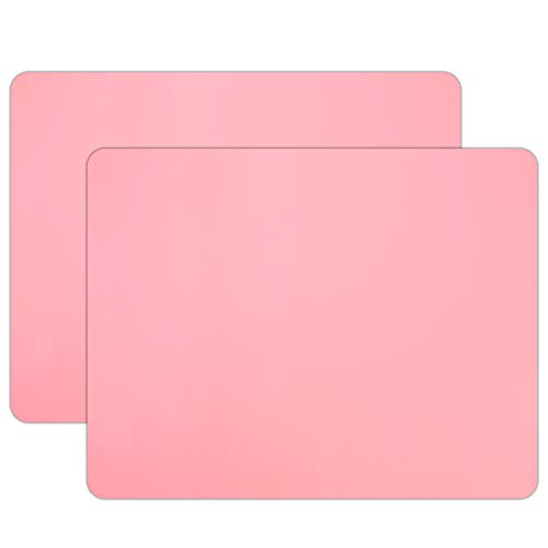 """2 PCS Silicone Crafts Sheet, Gartful Extra Large, Jewelry Casting molds Mat, Painting, Countertop Protector, Counter Table Mat, Non-stick Nonskid Placemat, 23.6"""" by 19.7"""", Pink"""