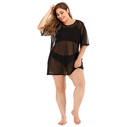 Mesh Strand Vertuschen 3XL Schwarz 960279 (kleider damen cocktailkleid kleider für hochzeitsgäste vintage kleid damen elegant für hochzeit rockabilly damen kleid damen große größen kleid damen coc)
