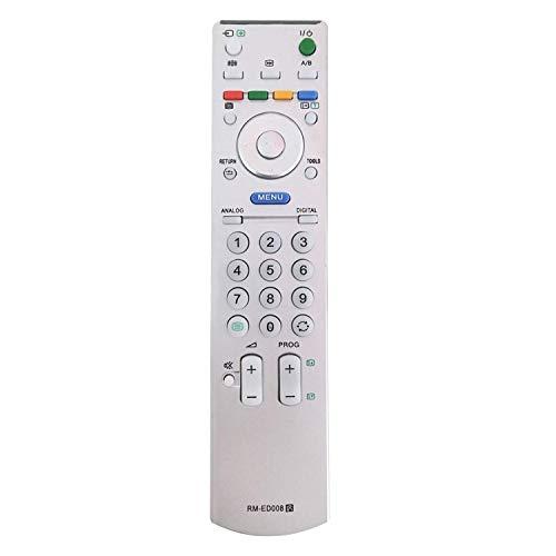 MYHGRC Nuevo Control Remoto de TV de Repuesto RM-ED008 para Sony Bravia Control Remoto Apto para Sony Smart TV - No Requiere configuración Control Remoto Universal RM-ED005 / RM-ED007 / RM-ED008