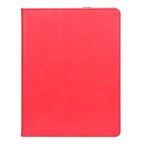 ISIN Premium PU Folio Protective Case Stand Cover for Apple iPad Pro 12.9 2020 Release(4th Generation) A2069 A2232 A2233 A2229 (No for iPad Pro 12.9 2015, 2017, 2018) iPadOS Tablet PC(Red)