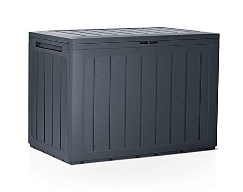 rg-vertrieb Gartenbox Auflagenbox 190L Truhe Box Gartentruhe Boarde Kissenbox Gartenkasten (Anthrazit)