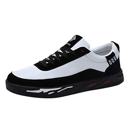 Homme Chaussures de Skateboard Overmal Baskets Basses Mode Casual Respirantes Poids léger Comfortable Semelle Souple Antidérapant Lacets Chaussure de Sport Sneakers