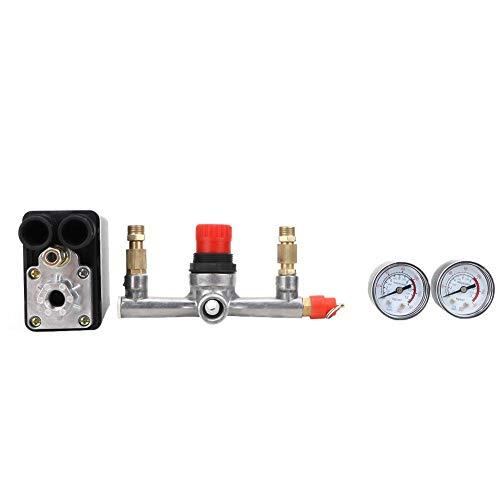 Automatische Druckventilschalter-Manometer-Baugruppe für Einloch-Luftkompressor 90~120 psi 220 V Luftkompressor-Ersatzteile