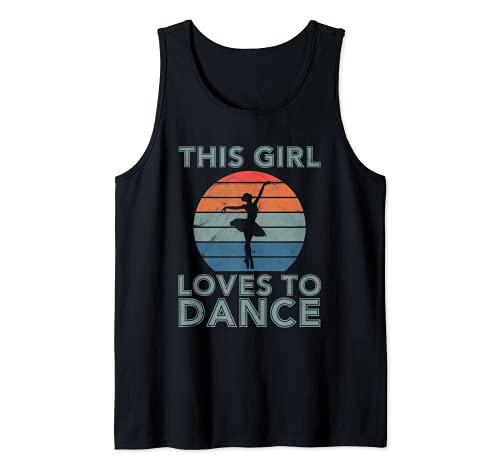 Cadeau amusant pour danseuse avec inscription « This Girl Loves To Dance » Débardeur