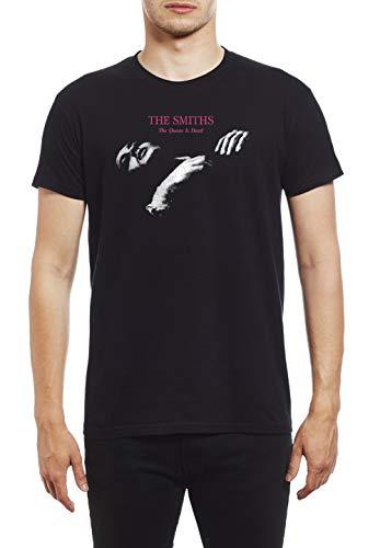 Camiseta de gran calidad para hombre, pesada, con el mensaje impreso «The Smiths Queen Is Dead» Negro negro XX-Large