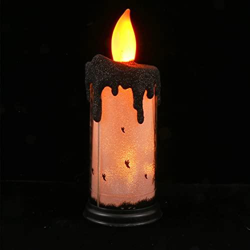 VOSAREA Halloween Parpadeo sin Llama Velas LED Velas de Cera Luz Espeluznante Fantasma Mano de Tabla Vela Lágrimas Lámpara para Fiesta de Halloween Hanuted Casa Decoración Estilo 2