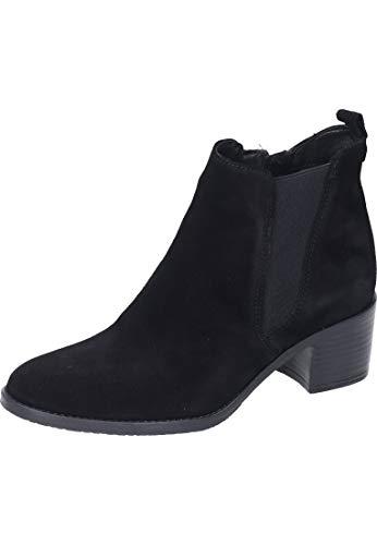 Tamaris Damen 1-1-25043-23 Chelsea Boots, Schwarz (Black Suede 4), 39 EU