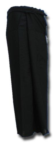 Thai Fisherman Pants Yoga noire écharpe longue pantalons paréos douces