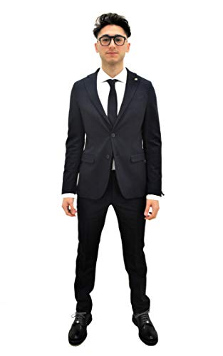 MANUEL RITZ Abito Giacca+Pantalone Blu Uomo (46)