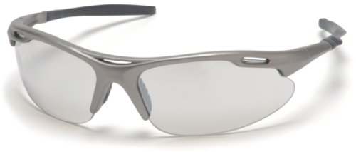 Pyramex Avante Safety Eyewear, Indoor/Outdoor Mirror Lens With Gun Metal Frame