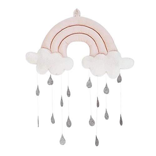 SparY Colgante Juguete Lindo Tela Decoración Props Om Bebé Cuna Accesorios Nube Lluvia Regalos Guardería Móvil Colgante Tienda Fotografía (Rosa) - Rosa, Free Size