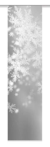 Home Fashion Schiebewand, Stoff, Grau, 245 x 60 cm