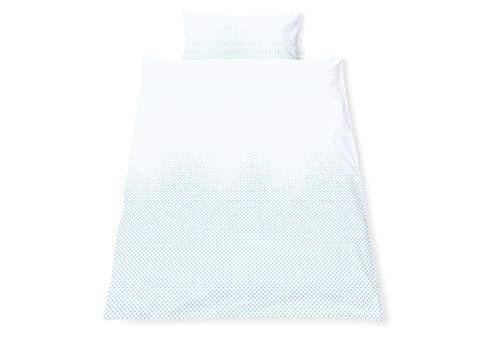 Pinolino 630042-2 Parure de lit réversible pour lit d'enfant « Running Stars » Bleu clair 2 pièces
