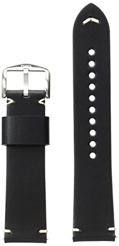 Fossil Leather-Calfskin Watch Strap, 22 (Model: S221366)