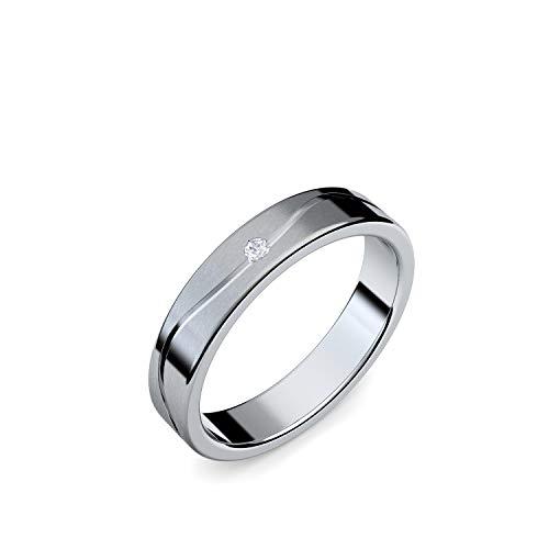 Eheringe einzeln mit GRATIS LUXUSETUI Eheringe Silber 925 Hochzeitsringe Trauringe Silber Eheringe günstig Silber Eheringe hochwertig modern FF343SS925ZIFA50