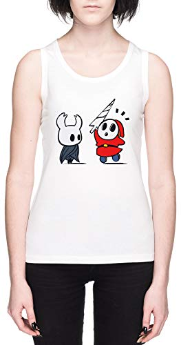 Hollow Shy Guy Blanca Mujer Camiseta De Tirantes Tamaño S White Women's Tank tee Size S