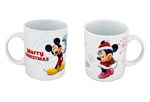 VDP 1x Disney Mickey Mouse 1x Minnie Mouse Becher Weihnachten Kaffebecher Porzellan