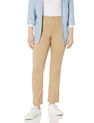 Gloria Vanderbilt Women's Anita Straight Leg Pant, Perfect Khaki, 14 Short