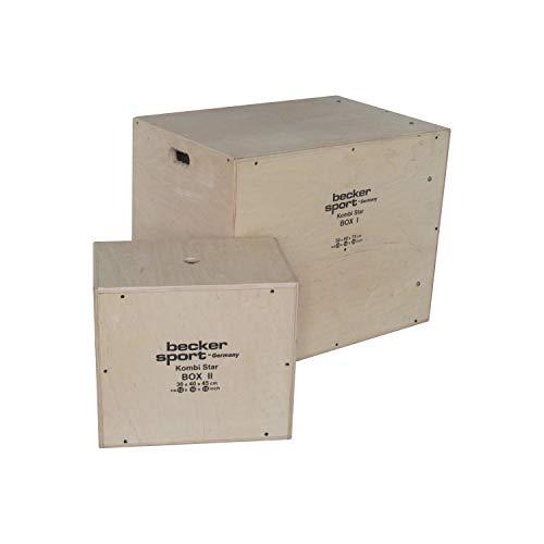 Combi Star Box I e Box II come set di 12 altezze di salto, 9 varianti mini parkur e 9 varianti scatola a gradini (BSG 28943)