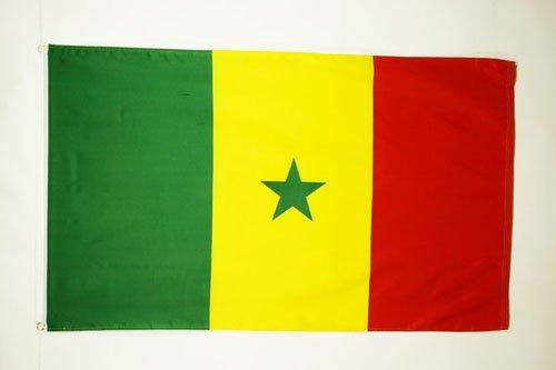 AZ FLAG Flagge Senegal 90x60cm - SENEGALESISCHE Fahne 60 x 90 cm - flaggen Top Qualität