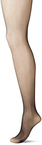 Just My Size Women's Plus Size Fishnet Tights 2-Pack, black, 3X/4X