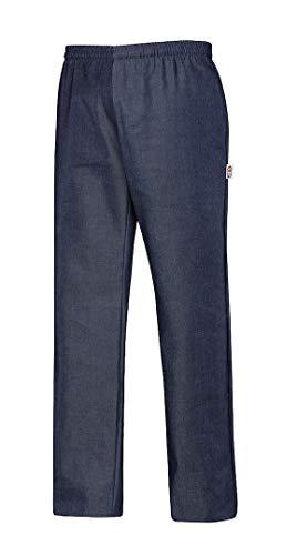 EGOCHEF Pantalones DE Cocinero Clasico 65% POLYESTER-35% Algodon (Jeans, XXL)