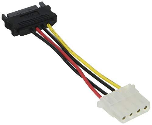 Delock SATA Stromkabel, schwarz/rot, 1er-Pack
