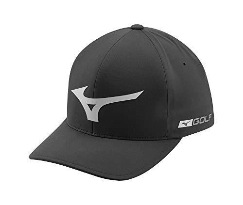 Mizuno Tour Delta Golf Hat, Black-Grey, Large/X-Large (7 1/8'-7 5/8')