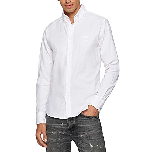 BOSS Mabsoot_1 Camisa, White100, M para Hombre