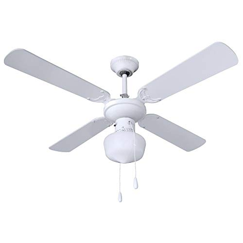 Ventilador de Techo con Luz 4 Aspas 50W 3 Velocidades 7hSevenOn Deco