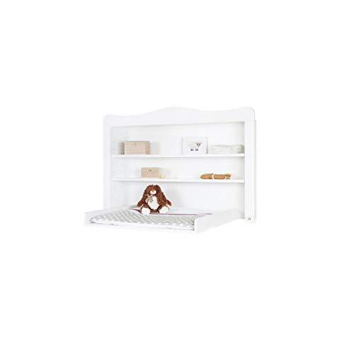 Regalaufsatz Florentina extrabreit, zum Aufsetzen auf Wickelkommode Florentina extrabreit, inkl. 2 Einlegeböden, für Babys und Kleinkinder, aus weißem Dekor