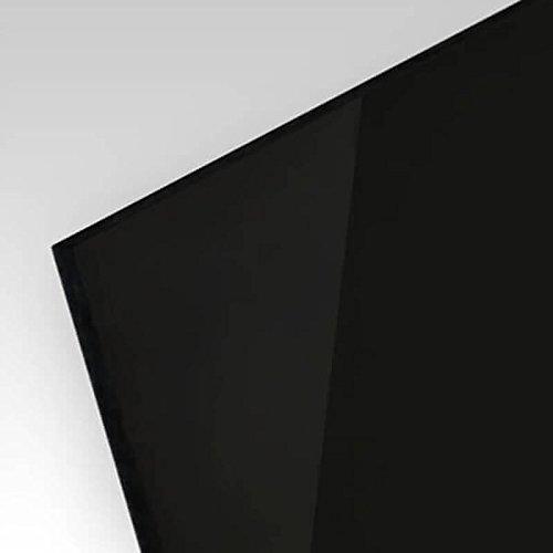 PLEXIGLAS® kratzfest schwarz gedeckt 9N870, edle schwarze Optik für Küchenrückwände, Treppengeländer, Trennewände; Maße: 50 x 25 cm, Stärke 5 mm