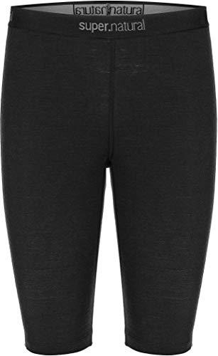 Super.natural Legging Court Femme, Laine mérinos, M BASE SHORT TIGHT 175, Taille : XL, Couleur : Noir