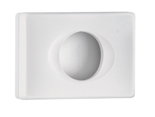 Mar Plast A58401BI toilettas, wit 'Soft Touch', 95 x 32 x 135 mm