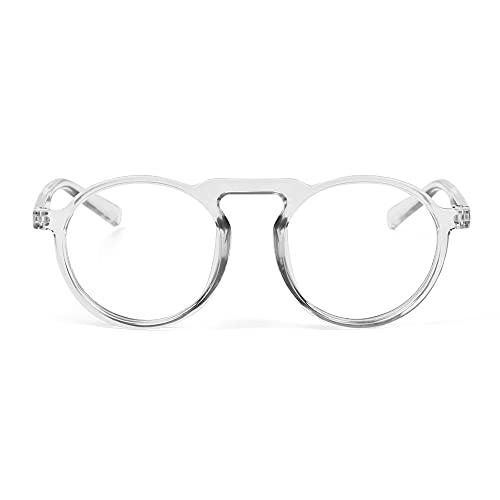 YOUQU Gafas Luz Azul,Unisex,Anti Fatiga Ocular,Gafas De Ordenador Anti Luz Azul,Protección Ocular Gafas De Lectura Nerd (Previene Dolores De Cabeza),Transparente