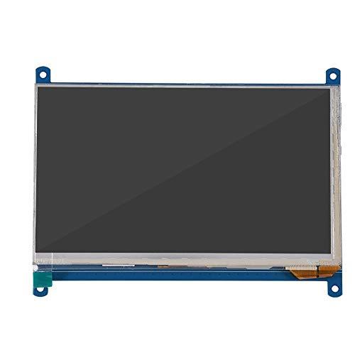 Bewinner 7inch Raspberry Pi HDMI LCD-monitor Capacitief touchscreen IPS-display voor Raspberry Pi 3B / Win10, Universeel HDMI-scherm, Draagbaar LCD-computerscherm