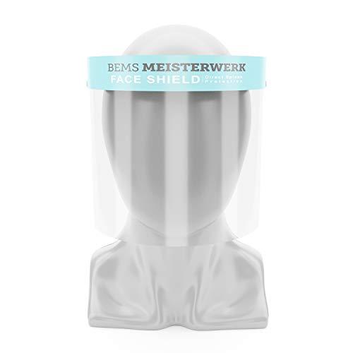 Gesichtsschutz Visier - Kein Beschlagen, Maximaler Schutz Premium Vollvisier Gesichtsschutzmaske für Diverse Zwecke - Auch für Brillenträger Optimal - BEMS Meisterwerk Face Shield