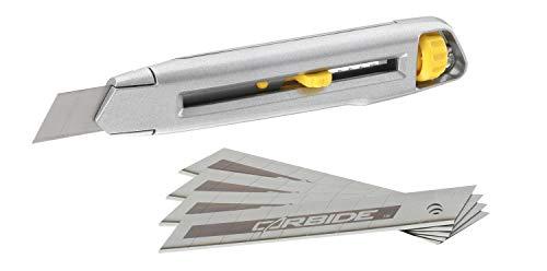 STANLEY 7-10-018 Confezione cutter Interlock da 18mm + 5 lame al carburo di tungsteno