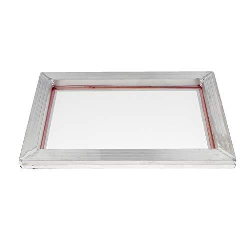 Milageto Conjunto De 1 Marco De Serigrafía De Aluminio De Seda De Impresión De Malla De Poliéster 77/90/120-31x43cm 90T