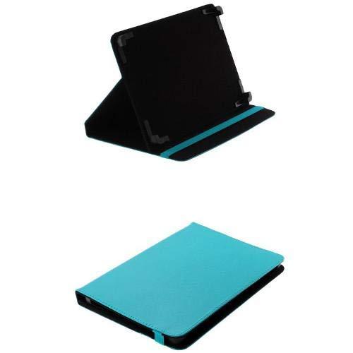 andyhandyshop Bookstyle Tablet PC Tasche Etui Hülle Case 10 Zoll für Medion Lifetab E10711 Schutztasche aufstellbar, blau