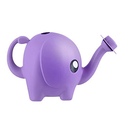 AMOLEY Elefanten-Gießkannen für Kinder, Tier-Gießdosen für den Garten (lila)