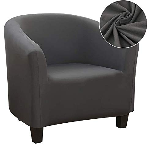 WINS Tub chair covers stretch for living room club chair covers spandex elastic armchair slipcover removable washable covers for tub chairs club chair Gray