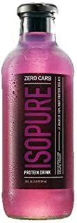 Isopure 40g Protein, Zero Carb Ready-To-Drink- Grape, 20 Ounce (Pack of 12)