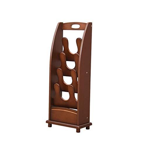 ZXL Massivholz Schuhe Regal Holztür Kreative Moderne Einfache Hausschuhe Und Hausschuhe Einfache Haushaltsmehrschichtholz (Größe: C)