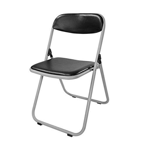 Klapstoel van metaal, draagbaar, stoel voor avondeten, ultralicht, voor vrije tijd, op het strand, vissen, SkizzoZHFZD 44 * 43 * 77cm Zwart